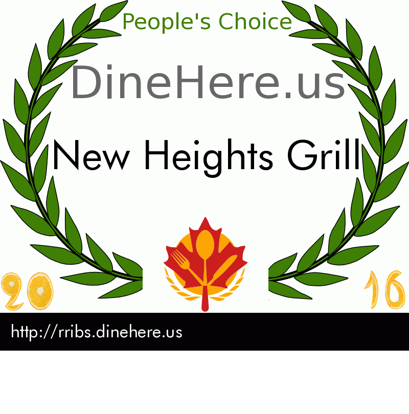 New Heights Grill DineHere.us 2016 Award Winner
