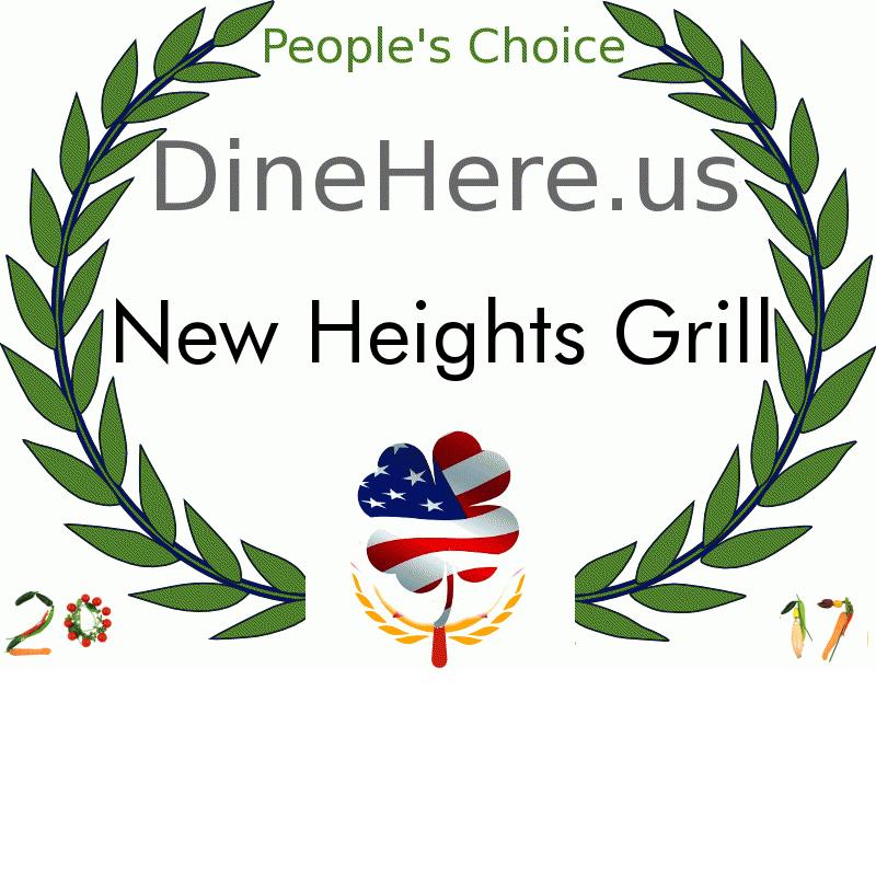 New Heights Grill DineHere.us 2017 Award Winner